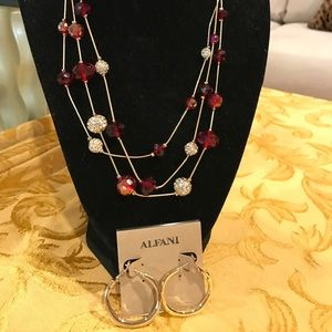Necklace and earrings NWT